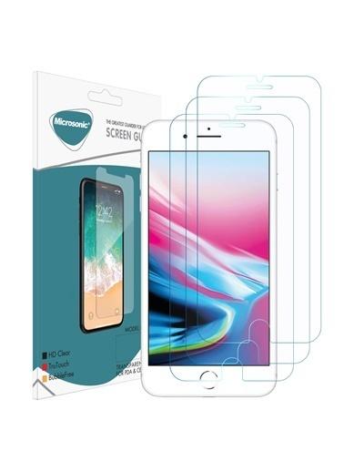 Microsonic iPhone 7 Ekran koruyucu Nano Cam (3'lü Paket) Renksiz